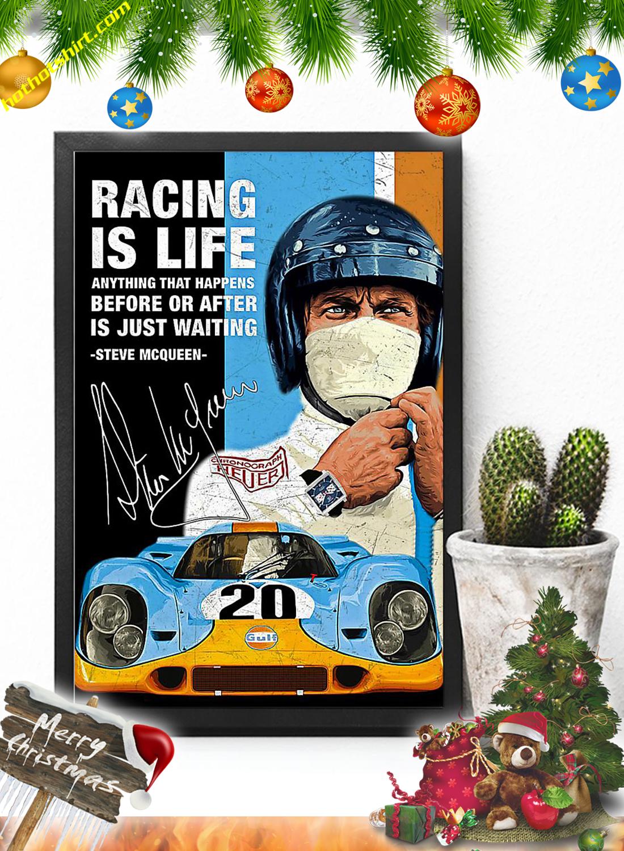 Racing is life steve mcqueen poster 1