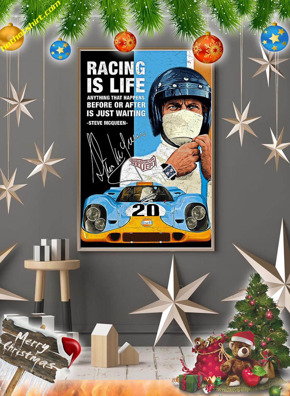 Racing is life steve mcqueen poster 2