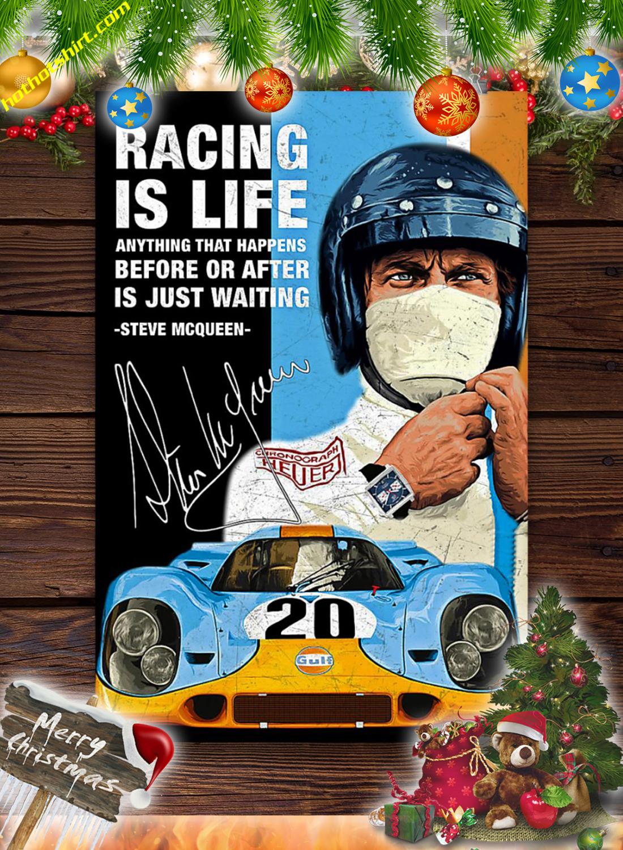 Racing is life steve mcqueen poster 3