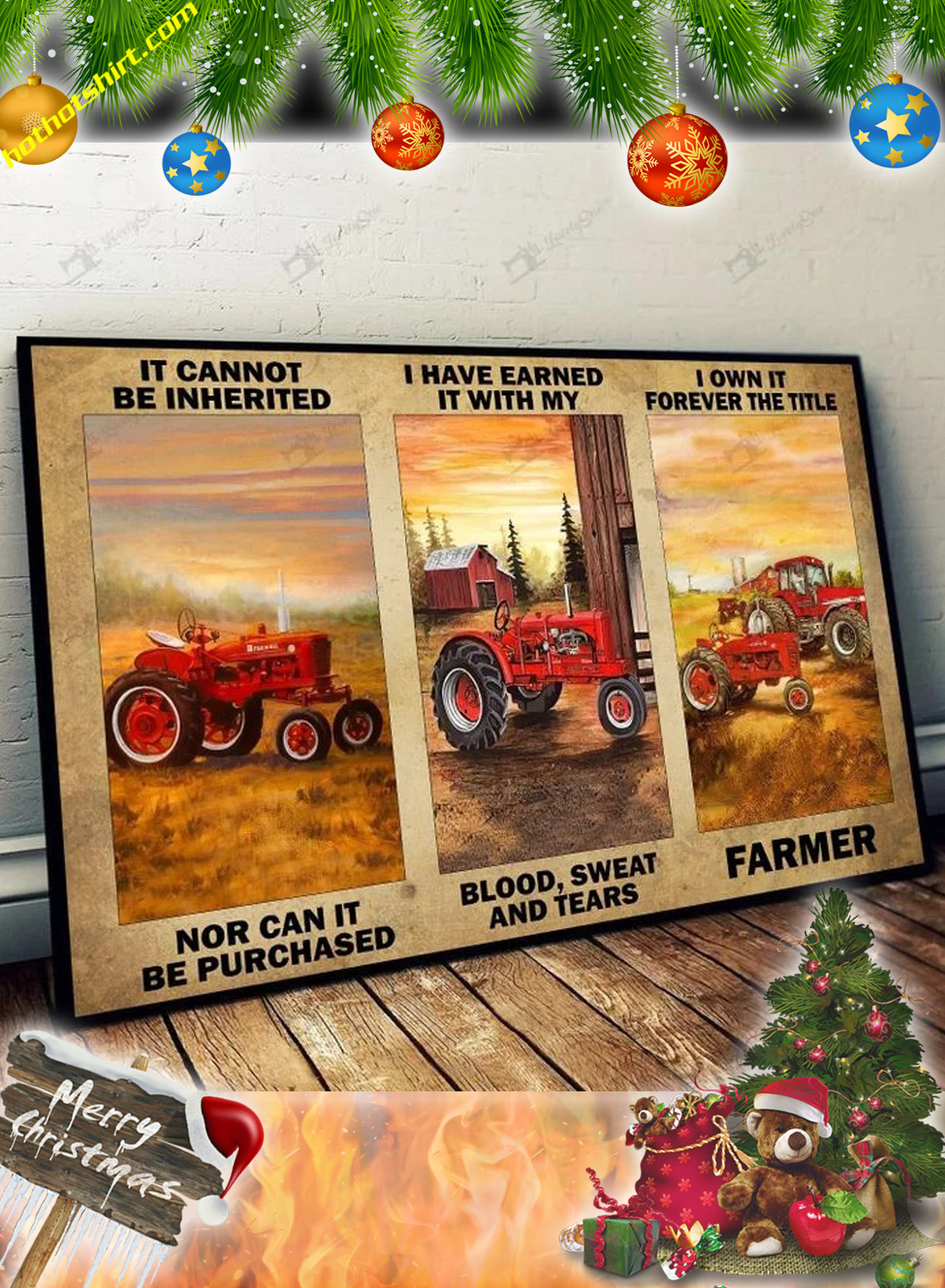 Red tractor It cannot be inherited nor can it be purchased poster 2