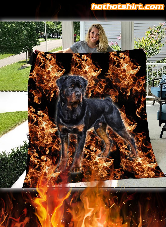 Rottweiler The Best Friends Quilt Blanket 2