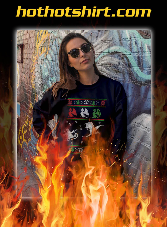 Santa claus riding dragon christmas sweater- pic 2