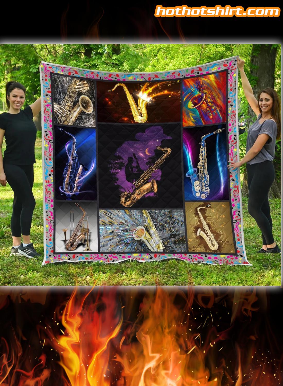 Saxophone Quilt Blanket 1