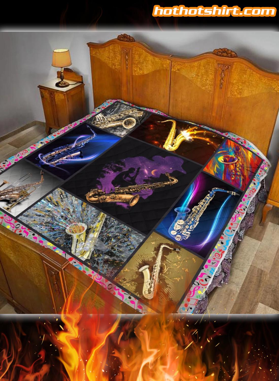 Saxophone Quilt Blanket 2