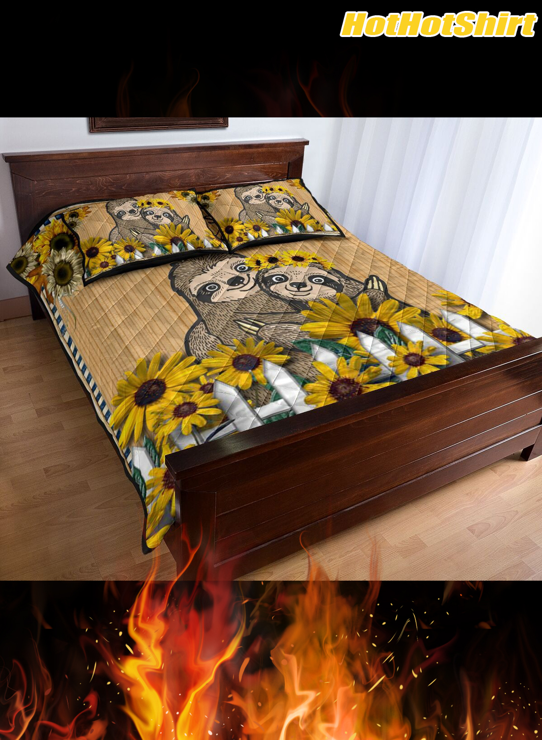 Sloth Always Stay Humble And Kind Bedding Set 2