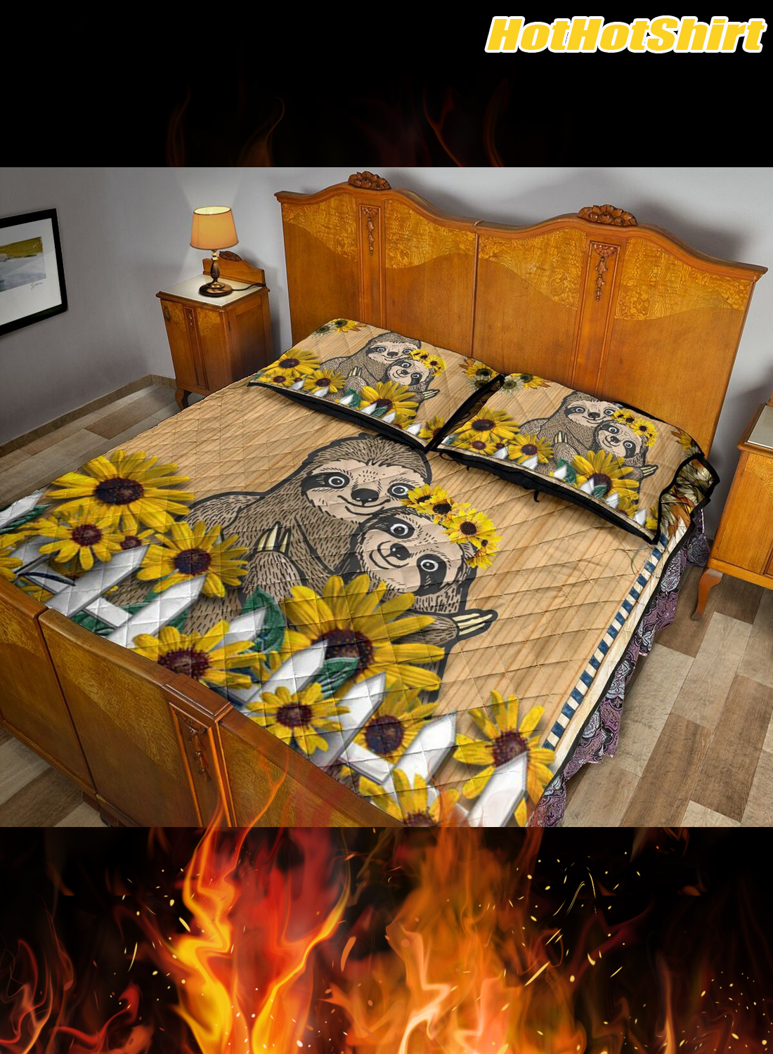 Sloth Always Stay Humble And Kind Bedding Set 3