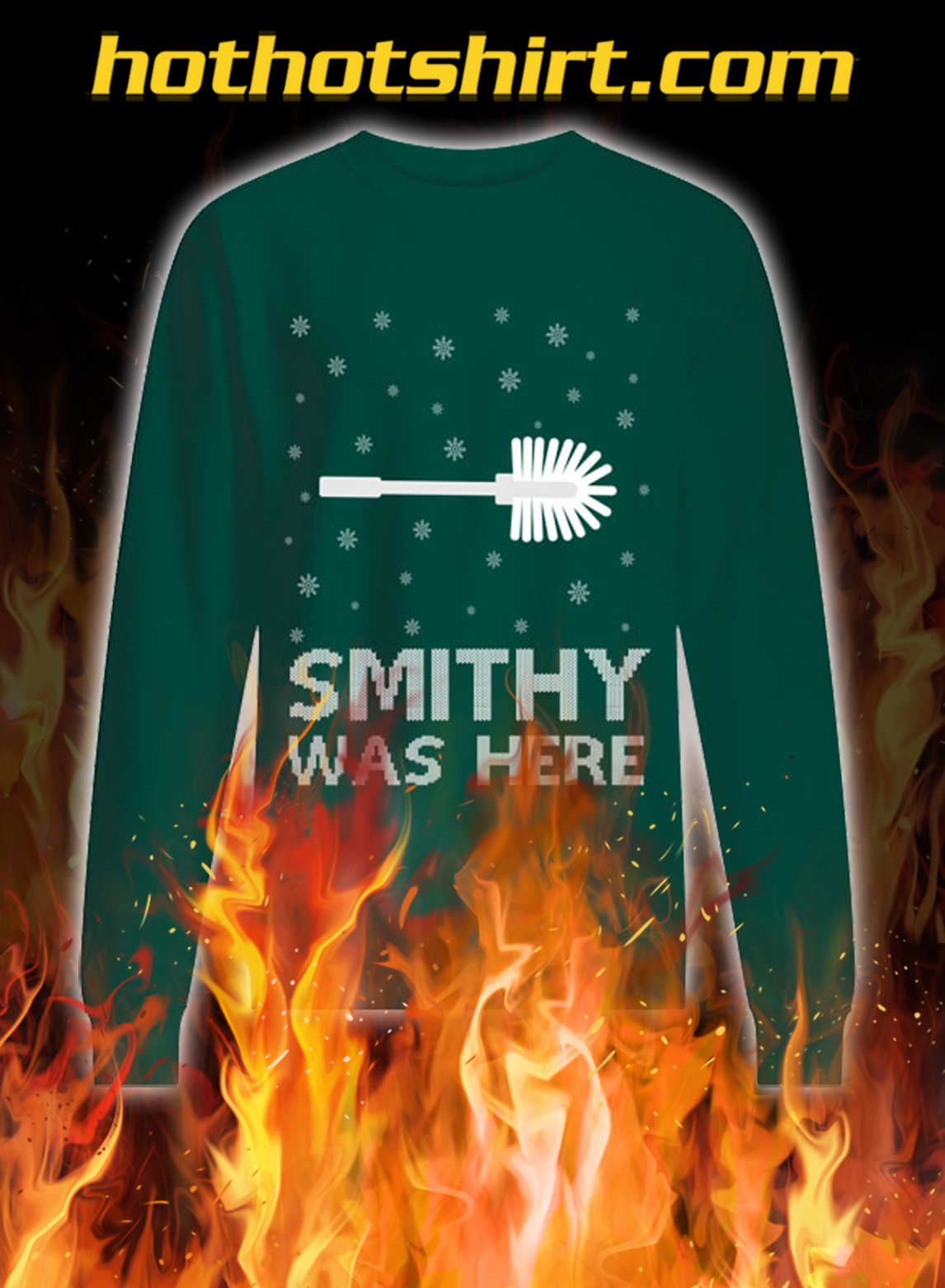 Smithy was here ugly christmas sweater- green