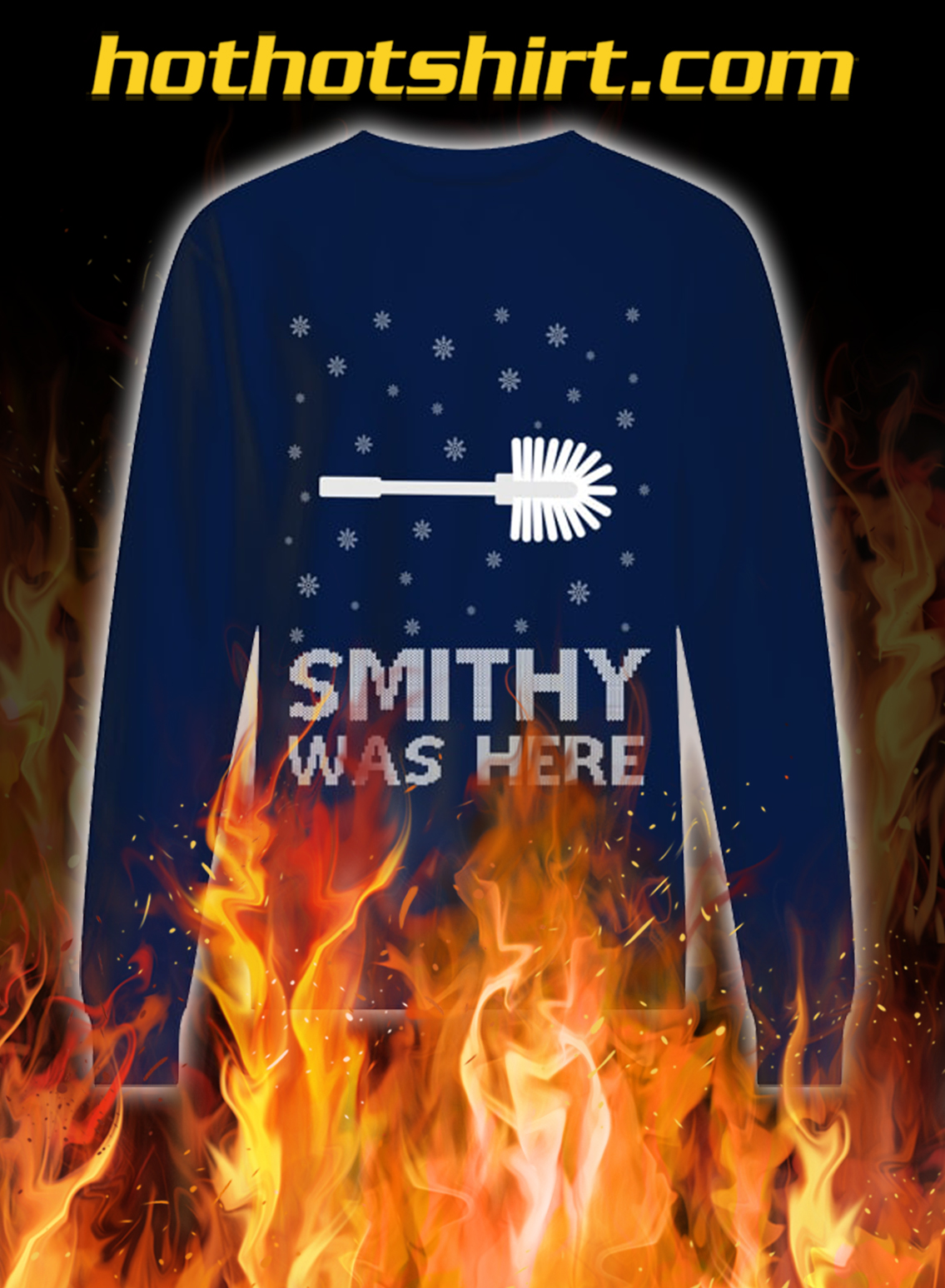 Smithy was here ugly christmas sweater- navy