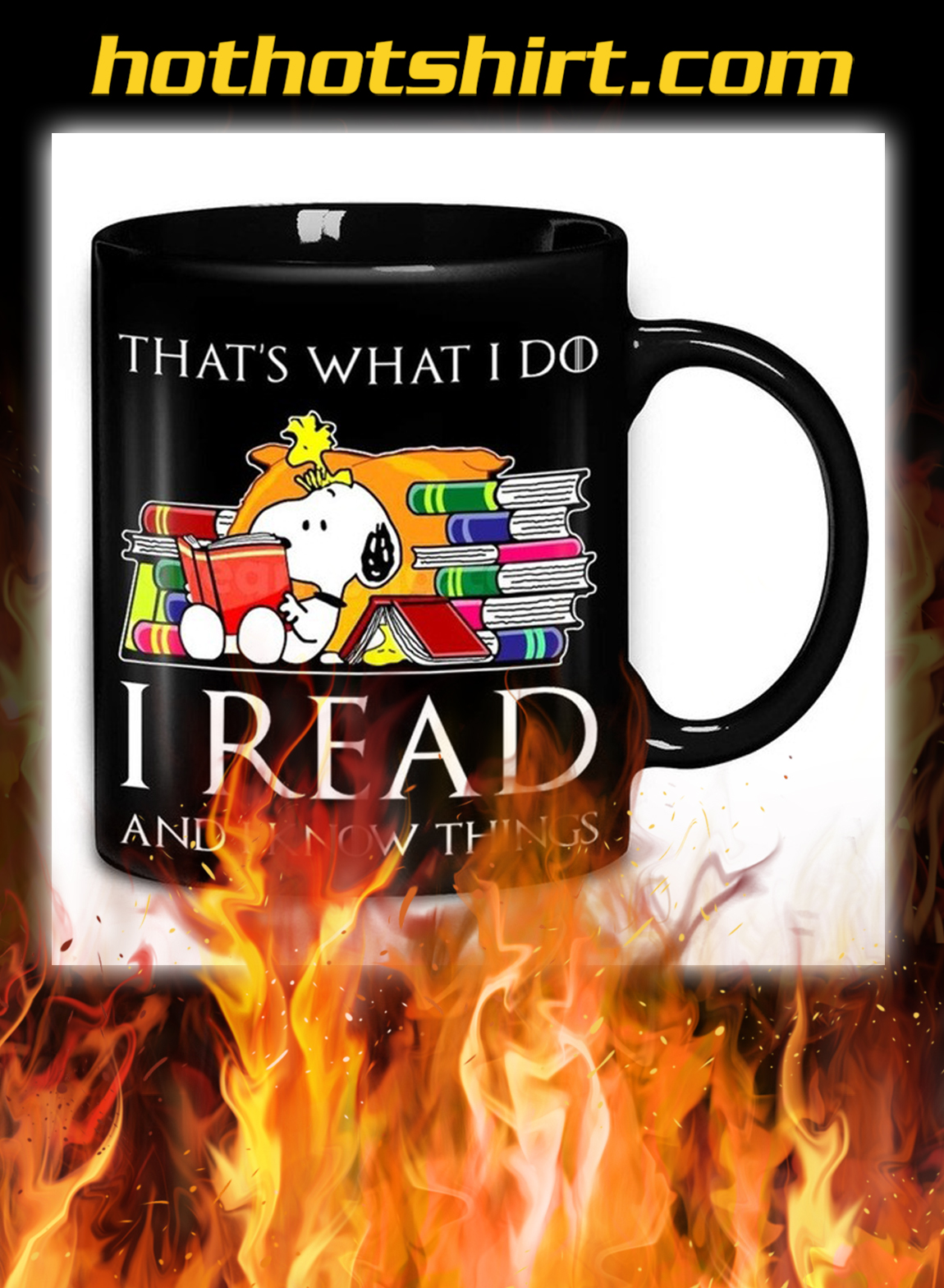Snoopy That's What I Do I Read Book And I Know Things Mug- pic 1