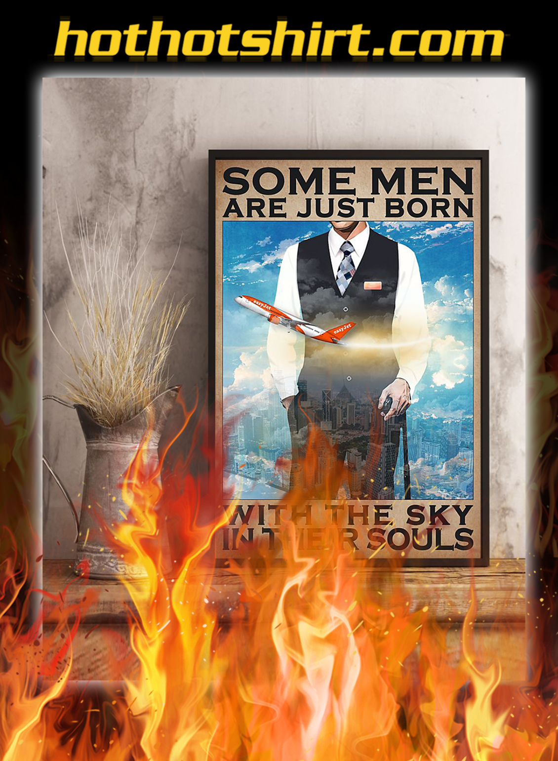 Some men are just born with the sky in their souls poster- A3