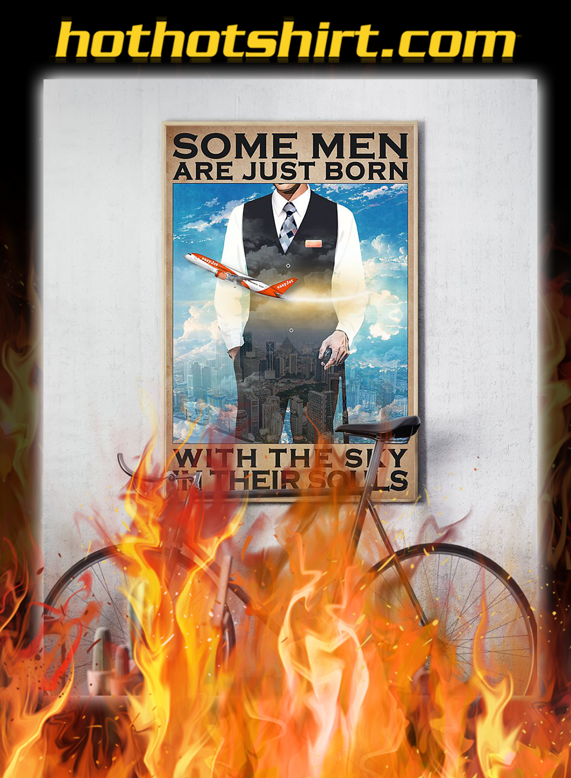Some men are just born with the sky in their souls poster- A4