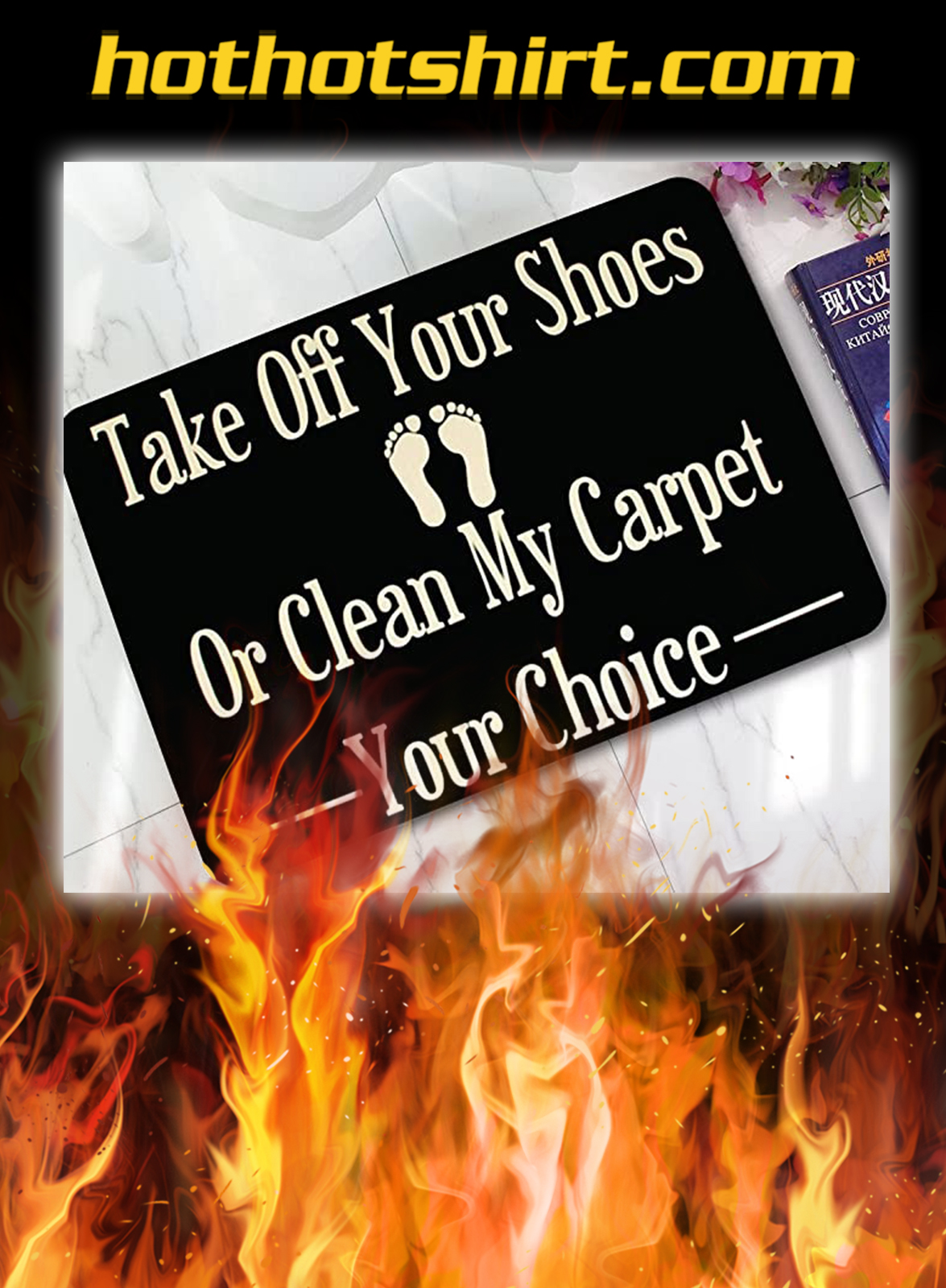 Take off your shoes or clean my carpet your choice doormat- pic 1