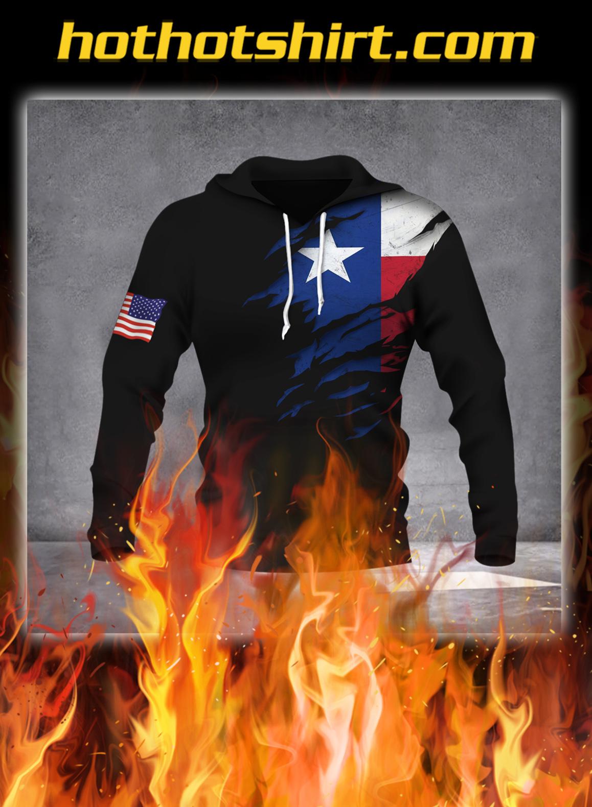 Texas flag inside 3D hoodie - pic 1