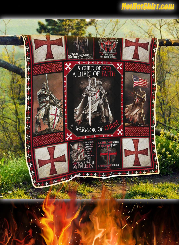 The Knights Templar Christian Warrior Quilt Blanket 2