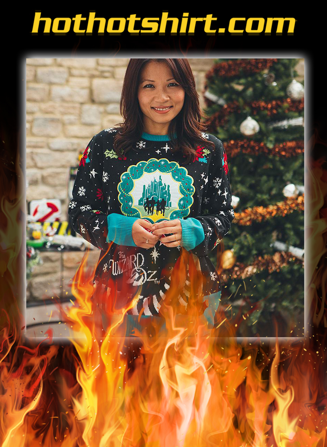 The Wizard of Oz ugly christmas sweater and jumper- pic 2