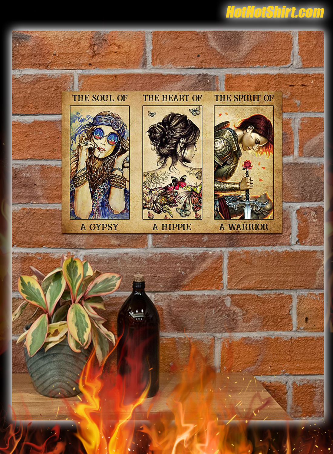 The soul of a gypsy the heart of a hippie the spirit of a warrior poster 3