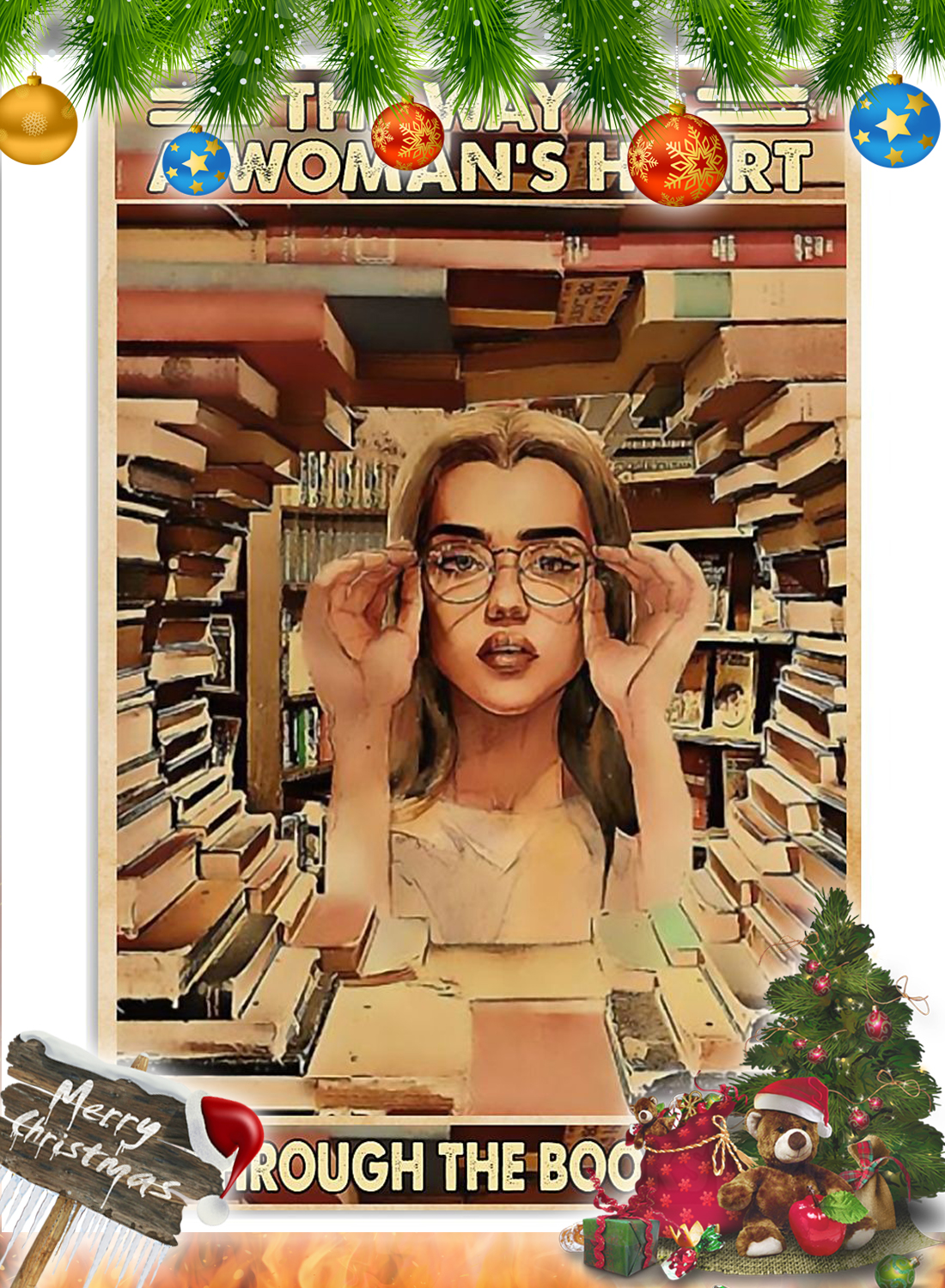 The way to a woman's heart is through the bookstore poster 2