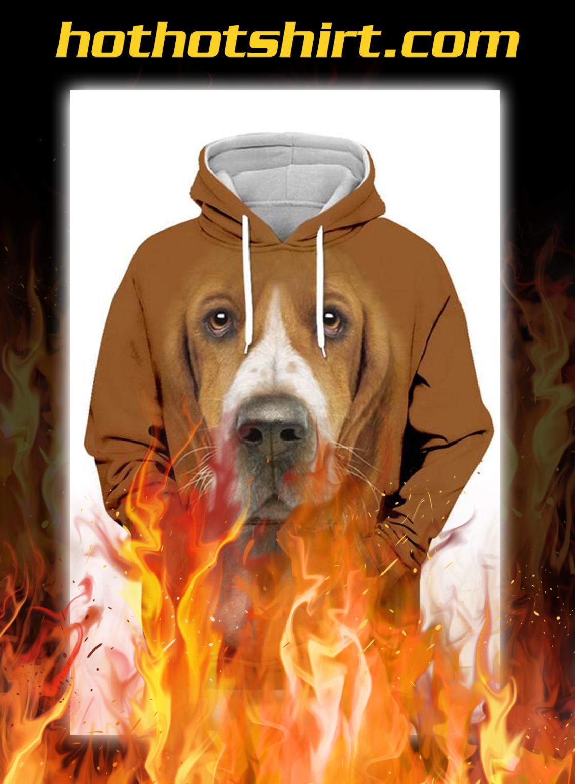 Unisex 3D Graphic Hoodies Animals Dogs Basset Hound Cool- pic 1