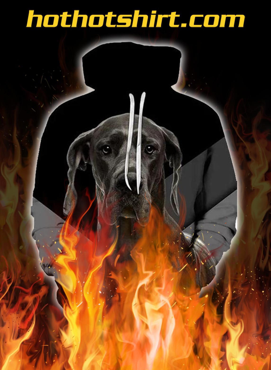 Unisex 3D Graphic Hoodies Animals Dogs Black Great Dane - pic 1