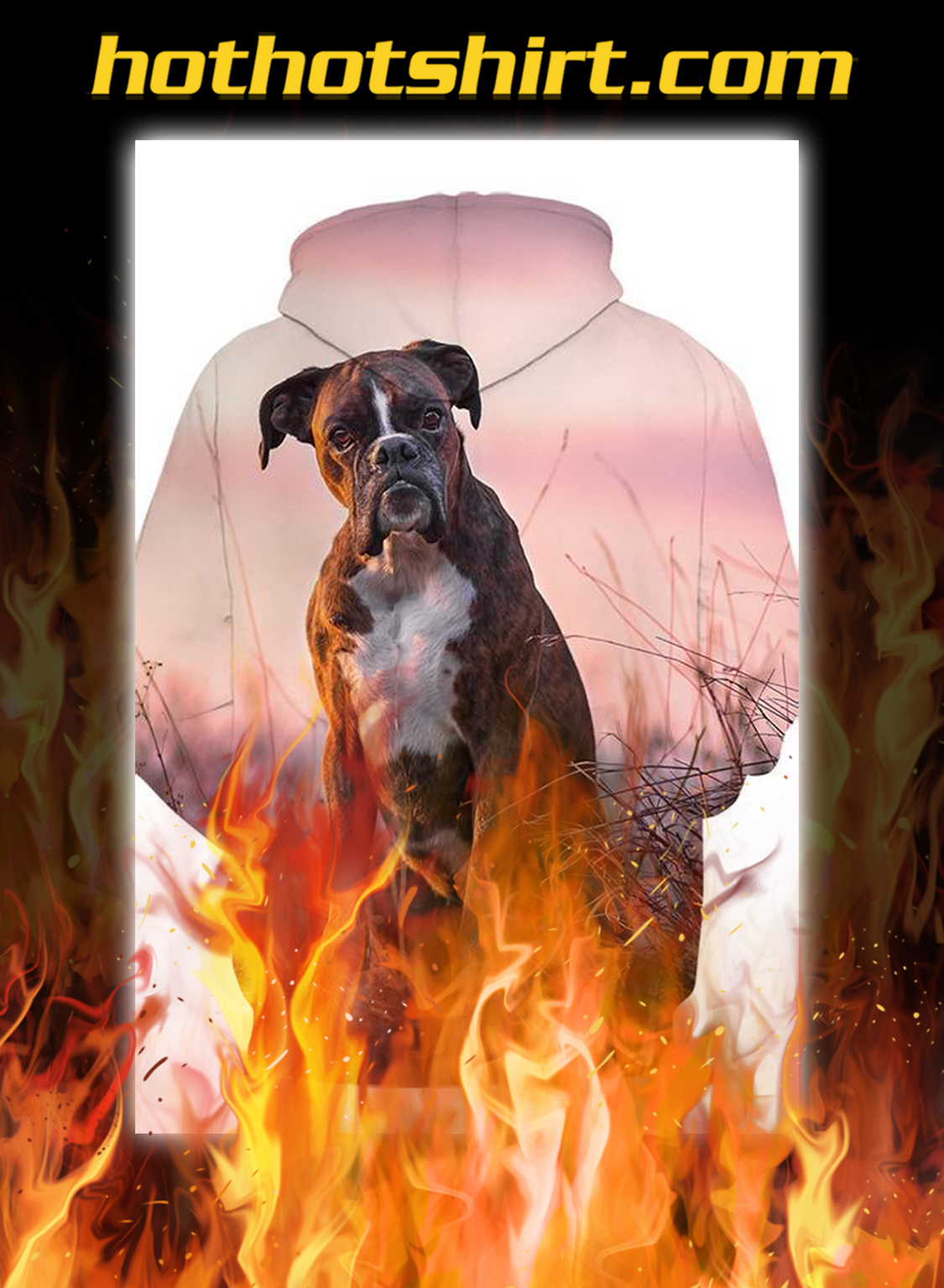 Unisex 3D Graphic Hoodies Animals Dogs Boxer Shirt- pic 1