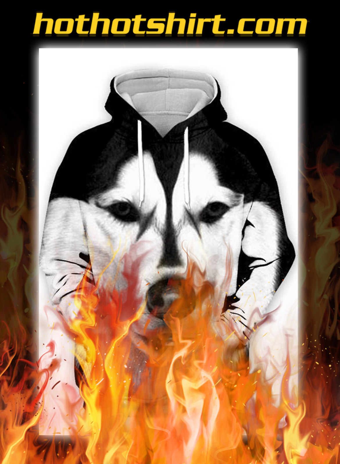 Unisex 3D Graphic Hoodies Animals Dogs Husky - pic 1