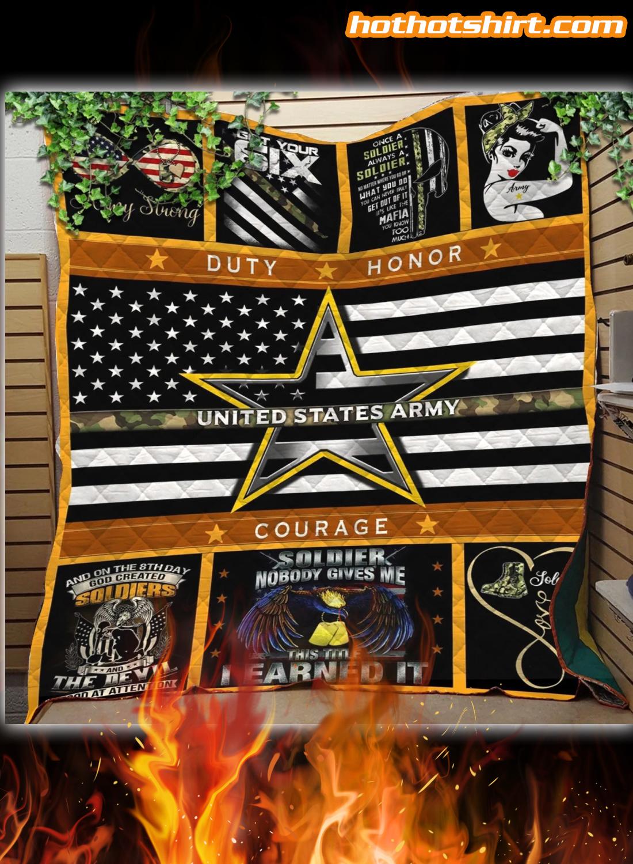 United States Amry Quilt Blanket 1