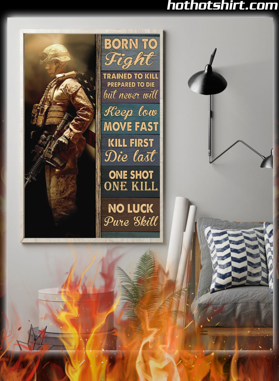 Veteran Born To Fight Trained To Kill Prepared To Die Poster 1
