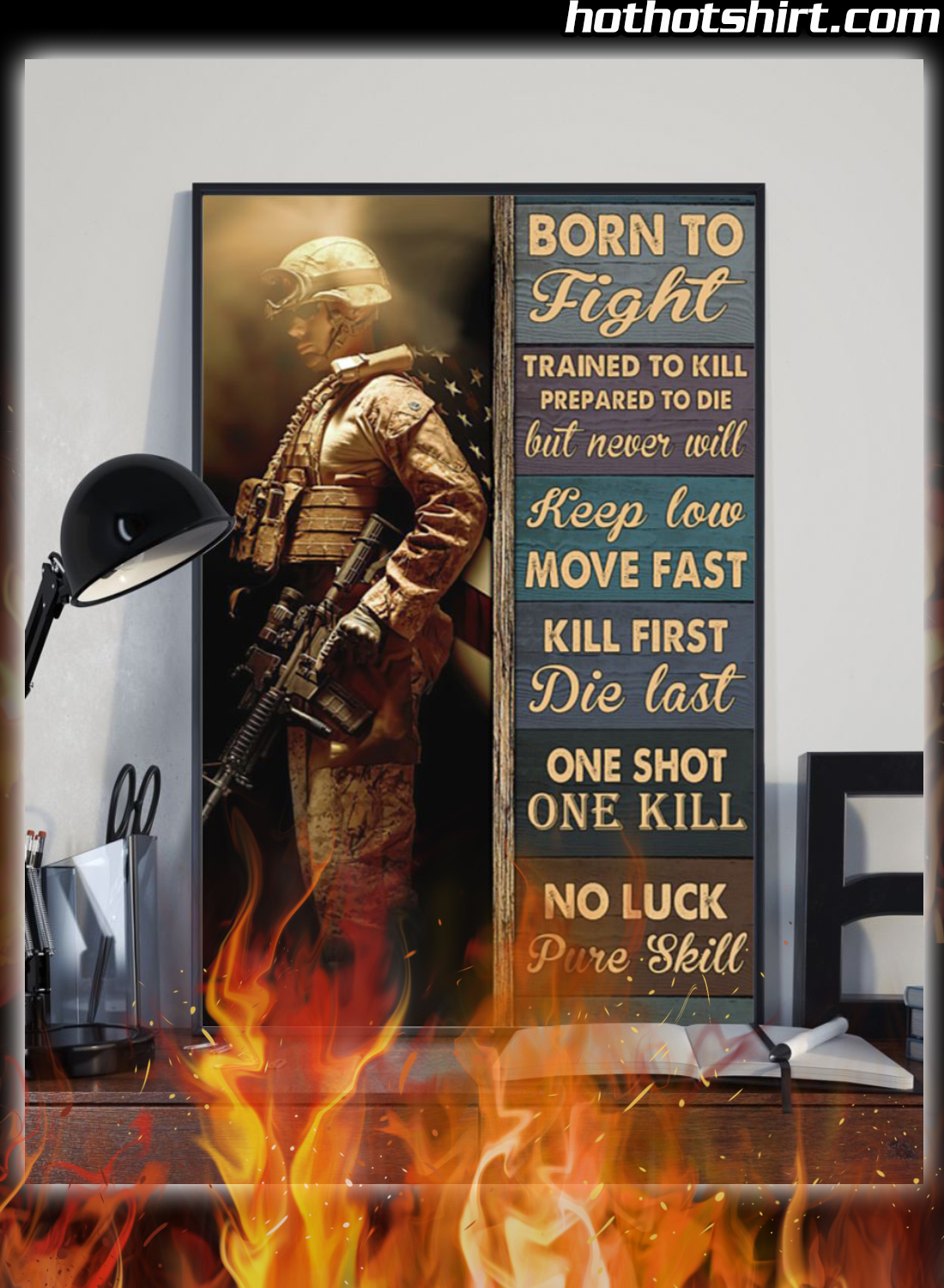 Veteran Born To Fight Trained To Kill Prepared To Die Poster 2
