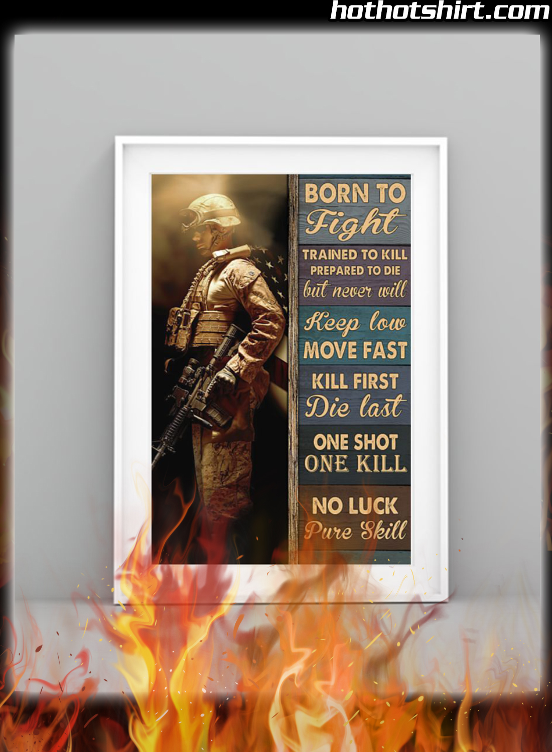 Veteran Born To Fight Trained To Kill Prepared To Die Poster 3