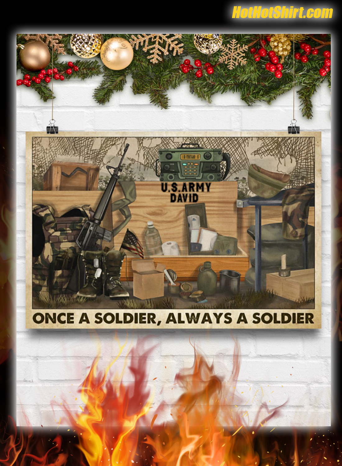 Veteran Once A Soldier Always A Soldier Poster 3