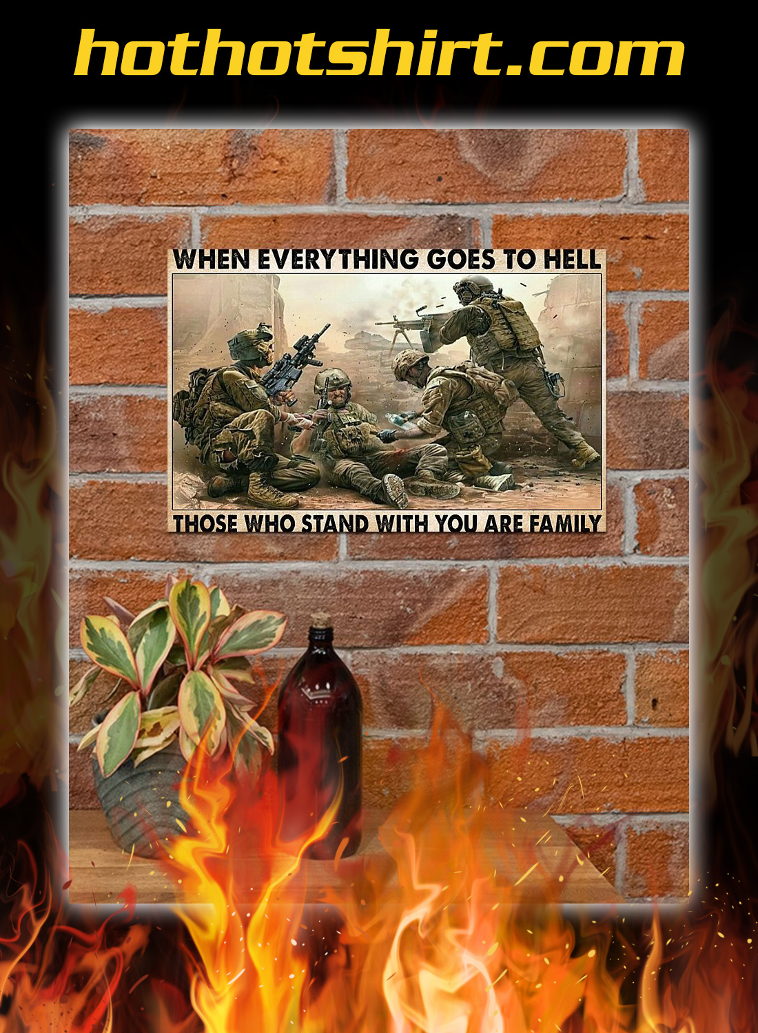 Veterans day When everything goes to hell poster 1