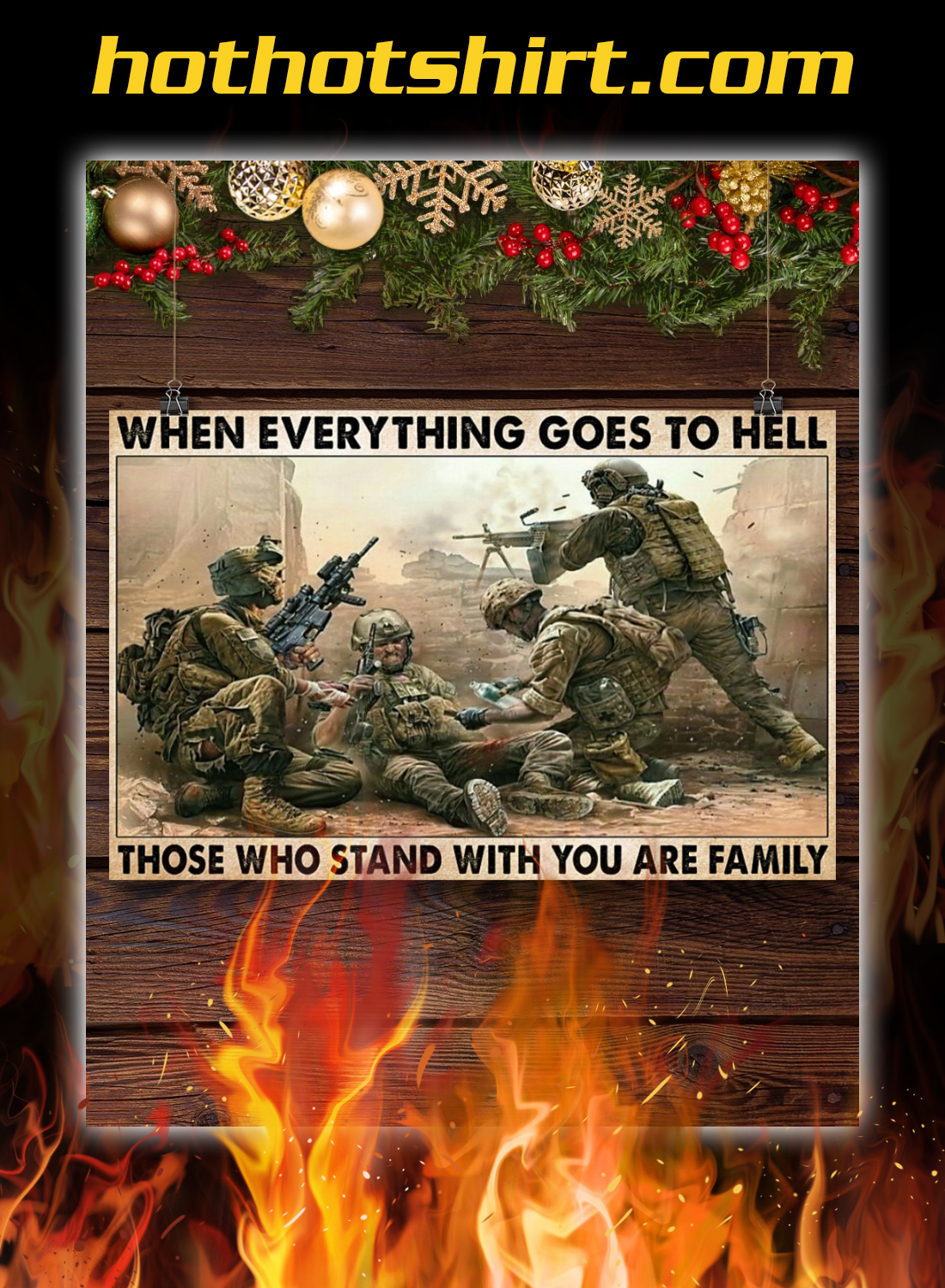 Veterans day When everything goes to hell poster 2