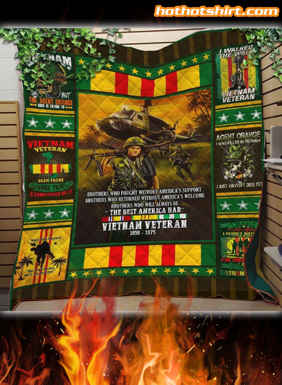Vietnam Veteran 1959 1975 Quilt Blanket 1