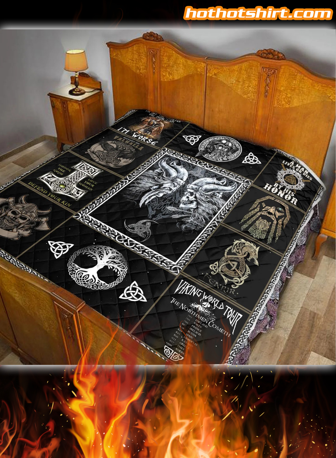 Viking I'm Not The Monster You Think I Am I'm Worse Quilt Blanket 1