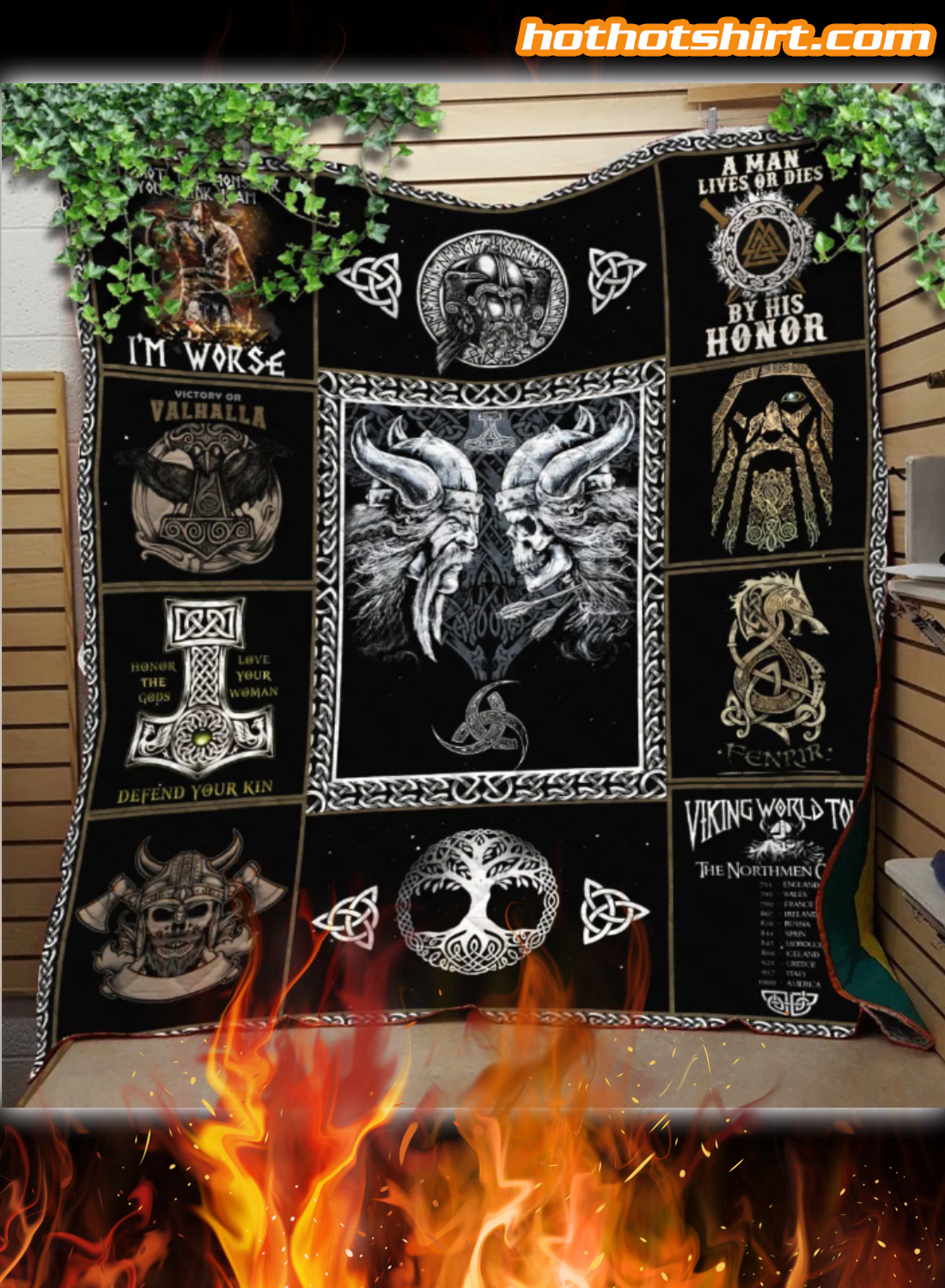 Viking I'm Not The Monster You Think I Am I'm Worse Quilt Blanket 2