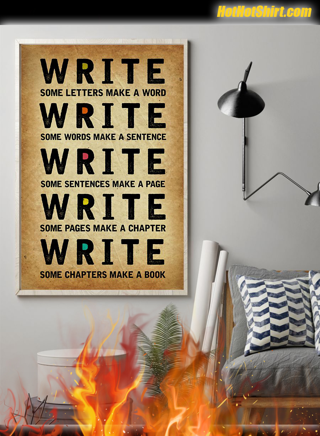 Write Some Letters Make A Word Poster 1