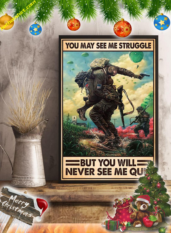 You may see me struggle Veteran poster 1