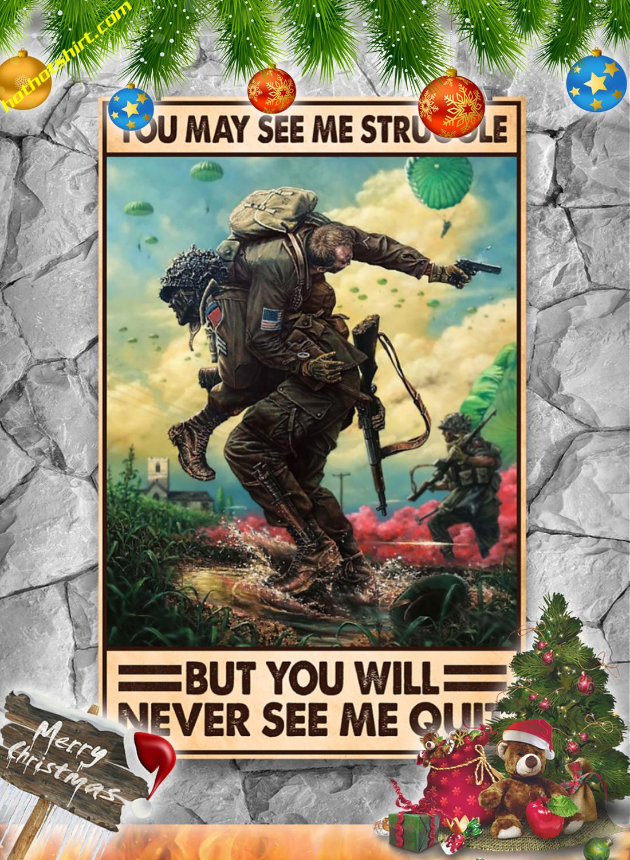 You may see me struggle Veteran poster 2