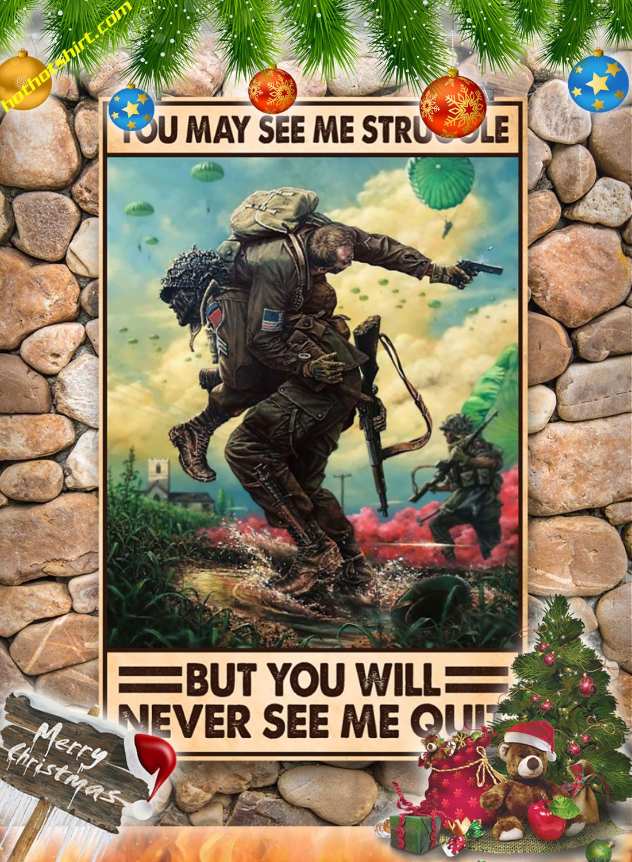 You may see me struggle Veteran poster 3