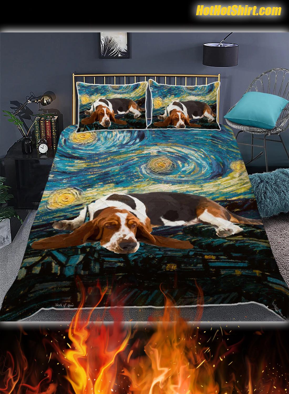 Basset Hound Starry Night Bedding Set 1