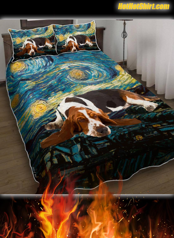 Basset Hound Starry Night Bedding Set 2