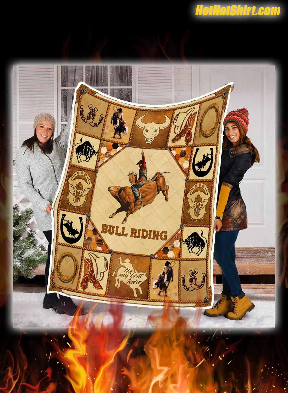 Bull Riding Quilt Blanket 1