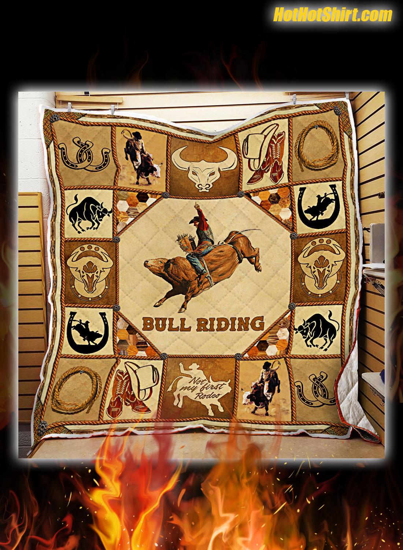 Bull Riding Quilt Blanket 2