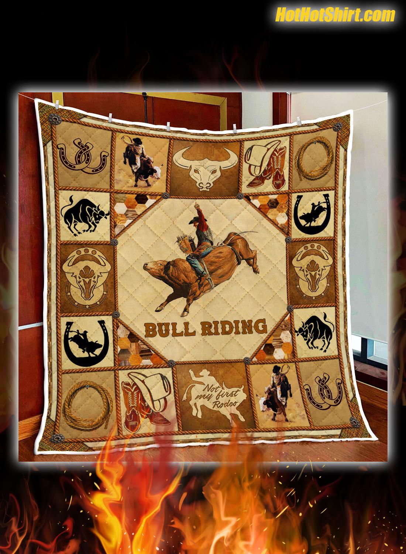 Bull Riding Quilt Blanket 3
