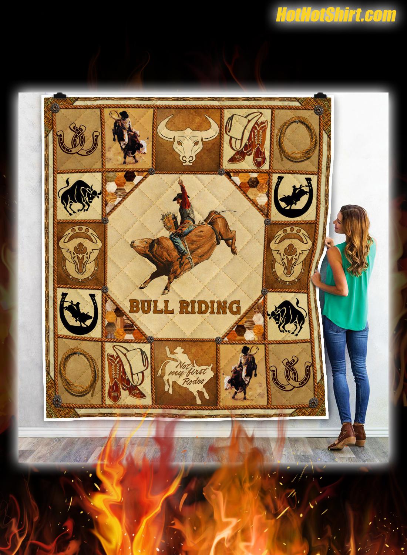 Bull Riding Quilt Blanket