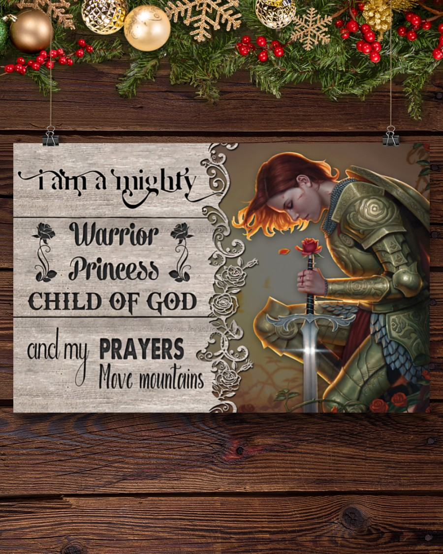 I am a mighty warrior princess child of god poster 1