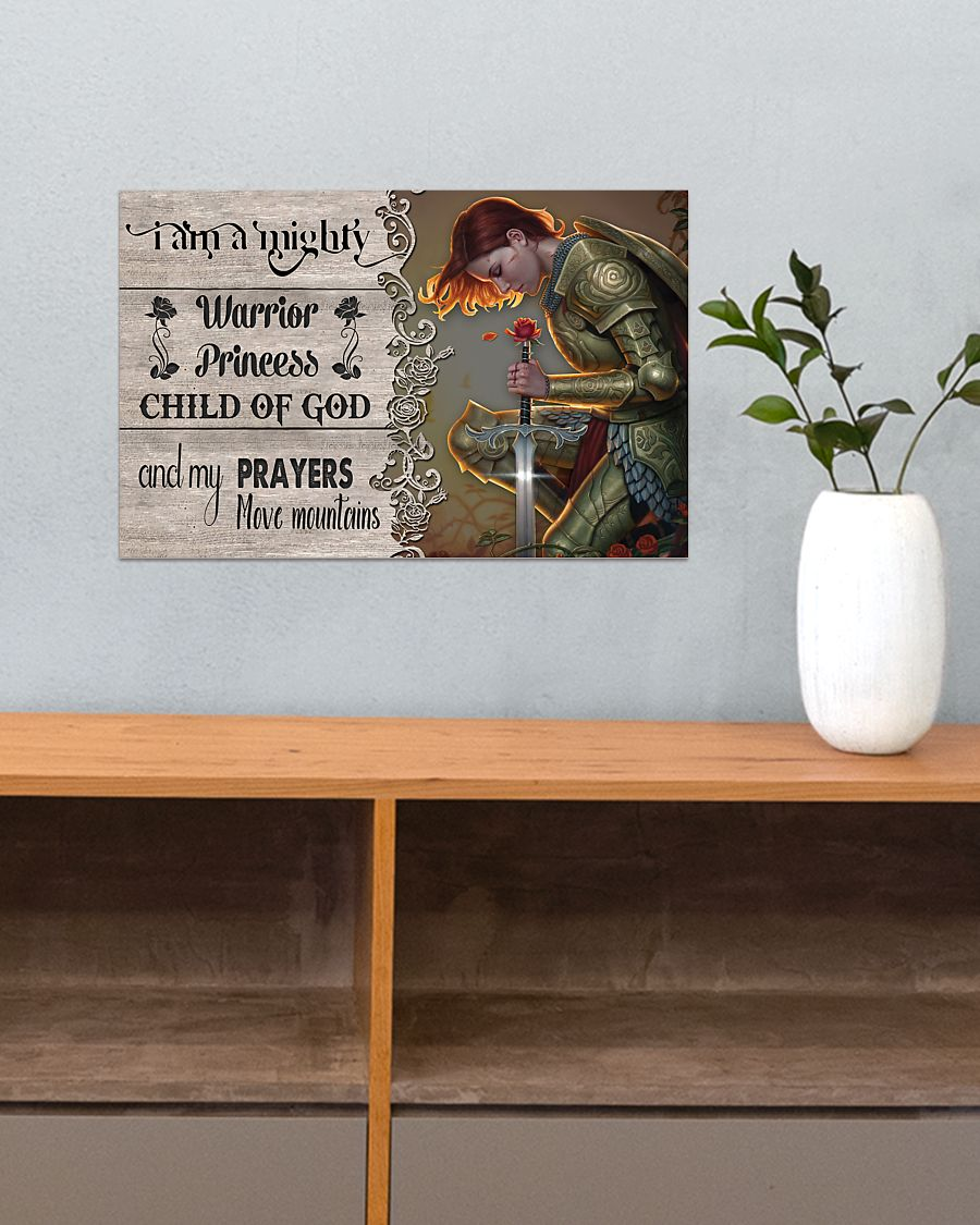 I am a mighty warrior princess child of god poster 3