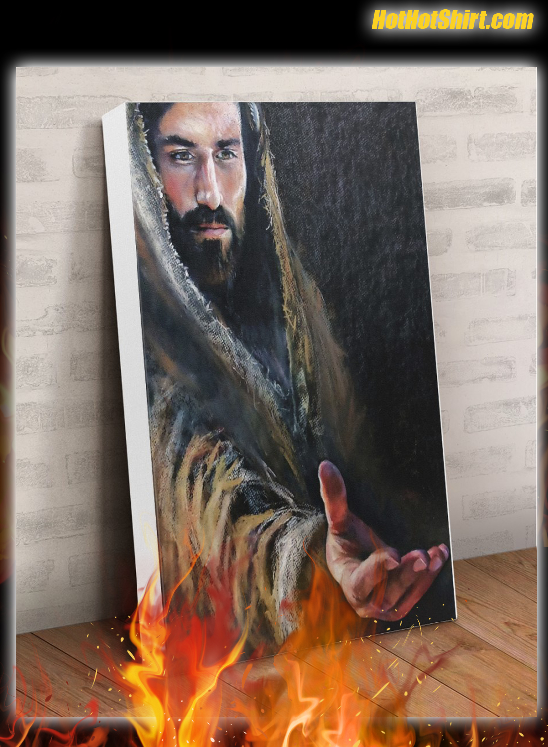 Jesus Reaching Hand Canvas Poster 2