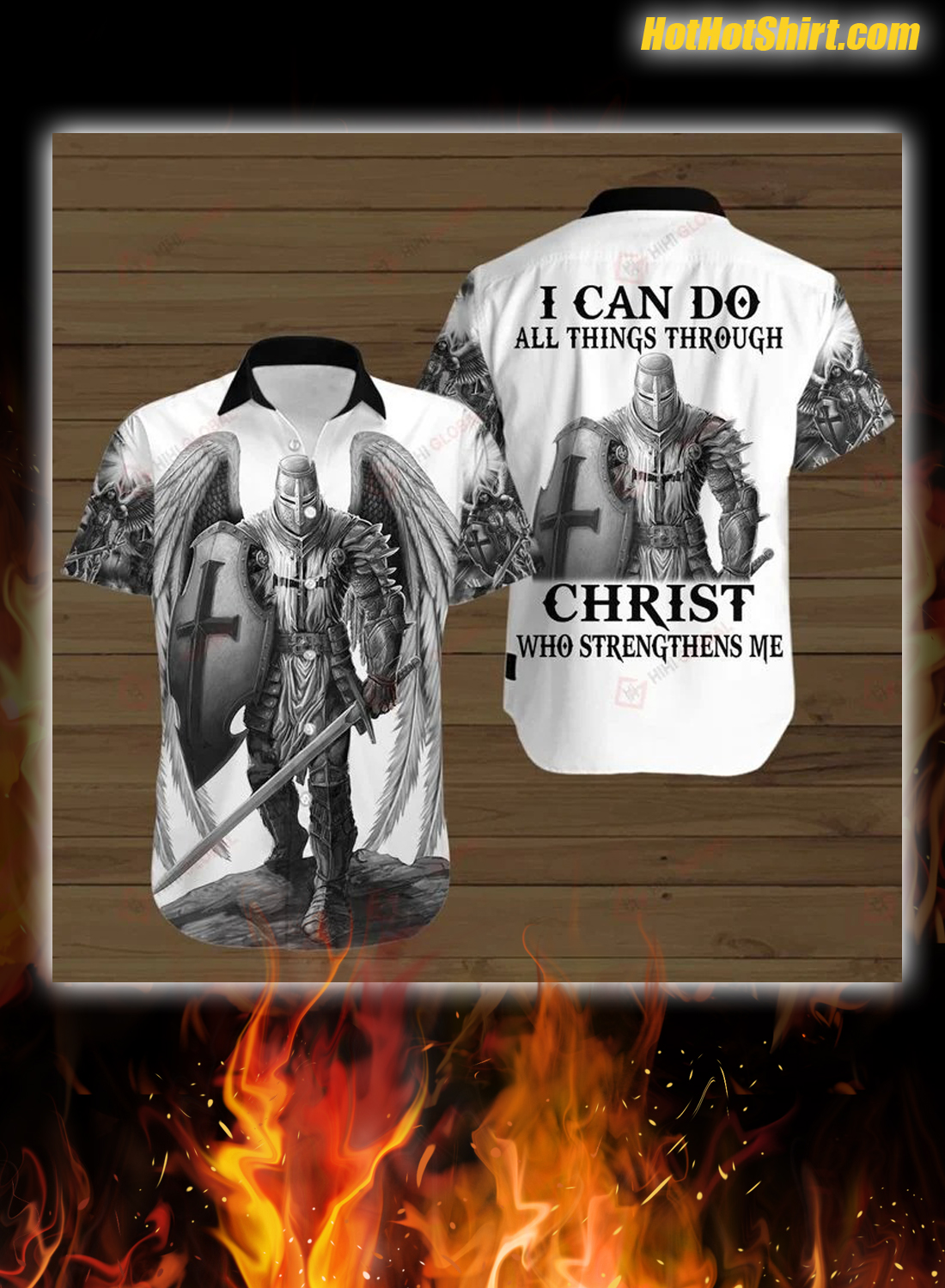 Knights Templar I Can Do All Things Through Christ Who Strengthens Me 3D Hoodie and Shirt 2