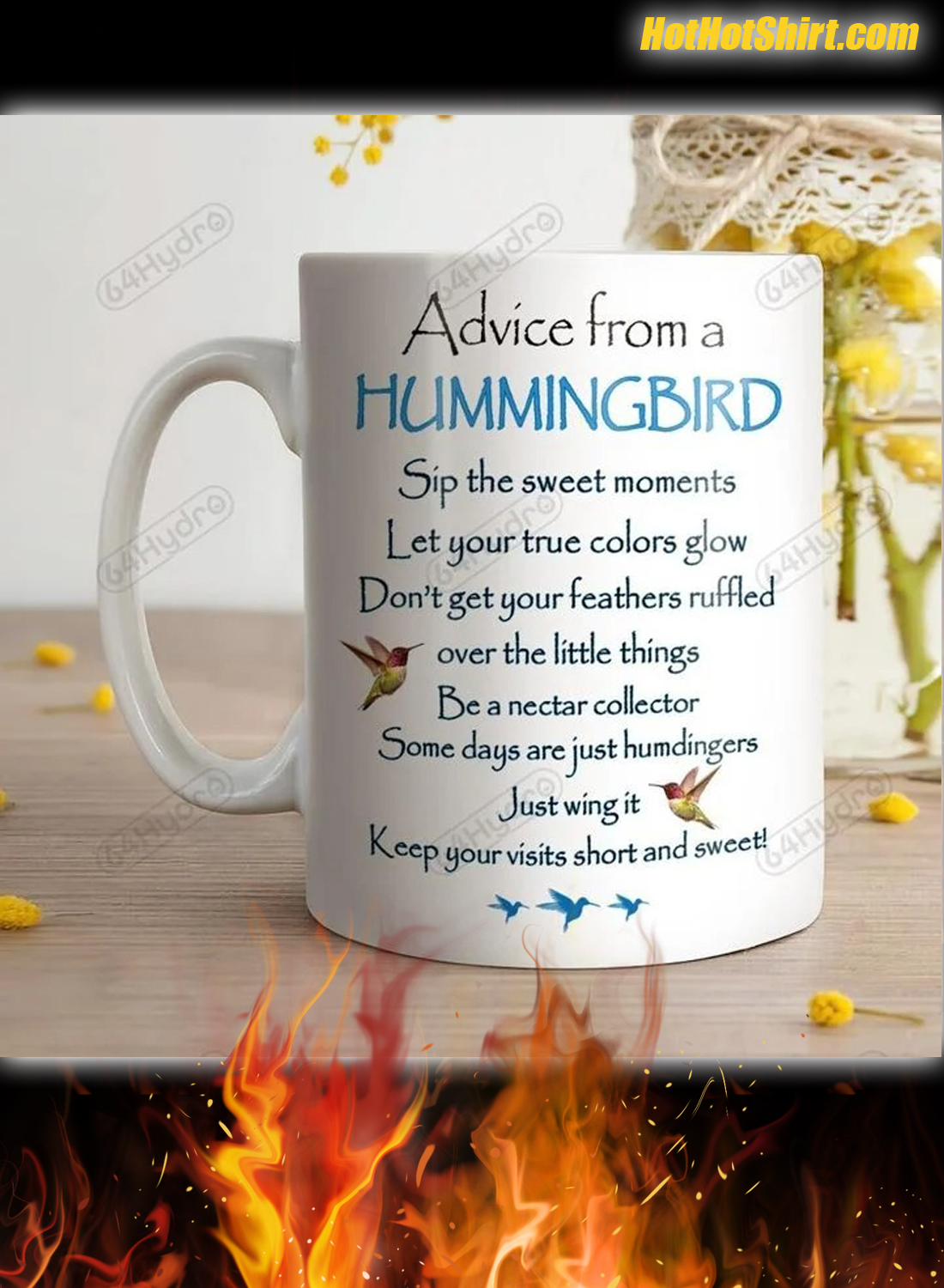 Personalized Name Advice From A Hummingbird Mug 2
